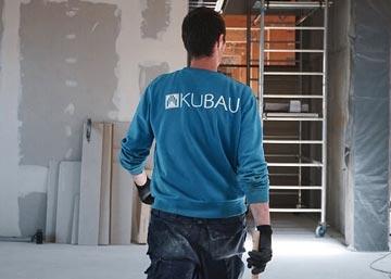 Besichtigungen einer Baustelle für den Innenausbau