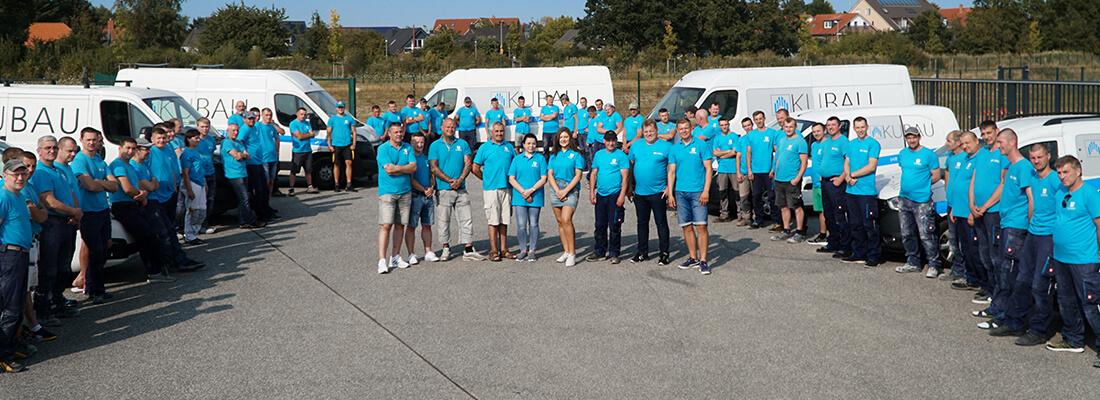 Gruppenfoto des Bauunternehmen Kubau GmbH