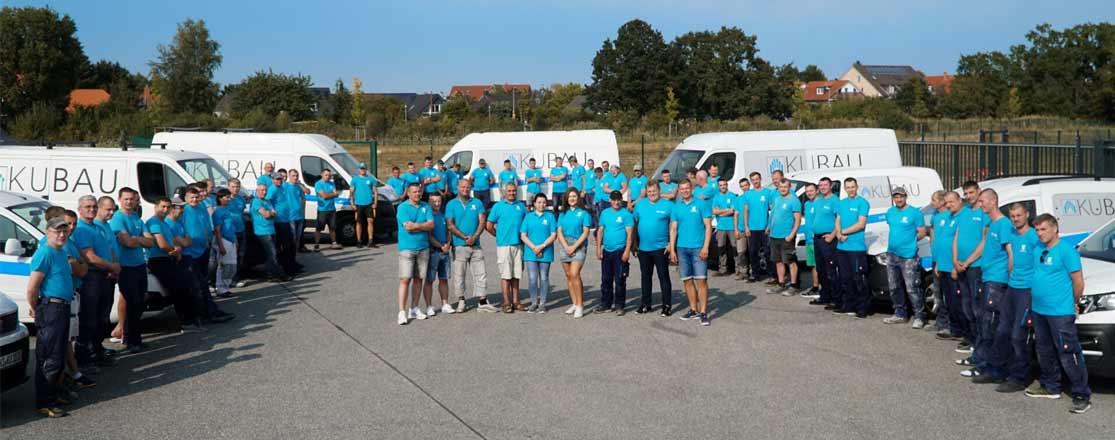 Gruppenfoto von den Maurern der Kubau GmbH