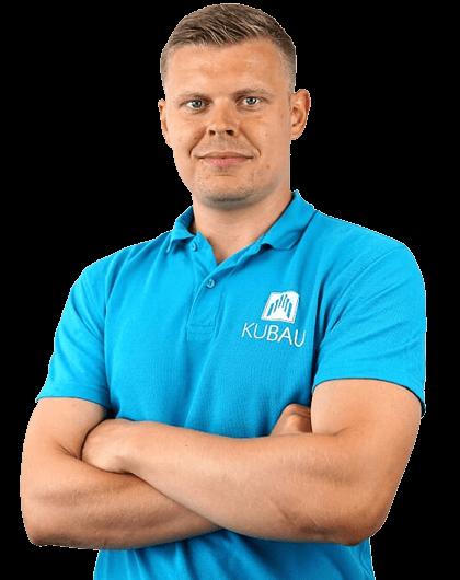 Ein Bild von Laurynas Kulikas dem Geschäftsführer der Kubau GmbH