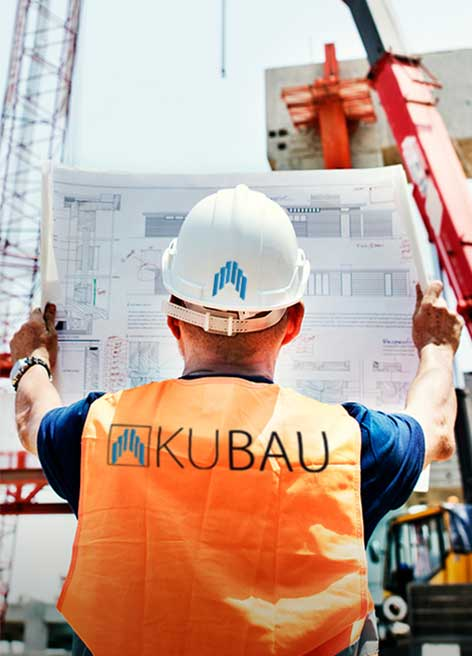 Aufnahmen einer Baustelle von dem Bauunternehmen aus der Luftperespektive